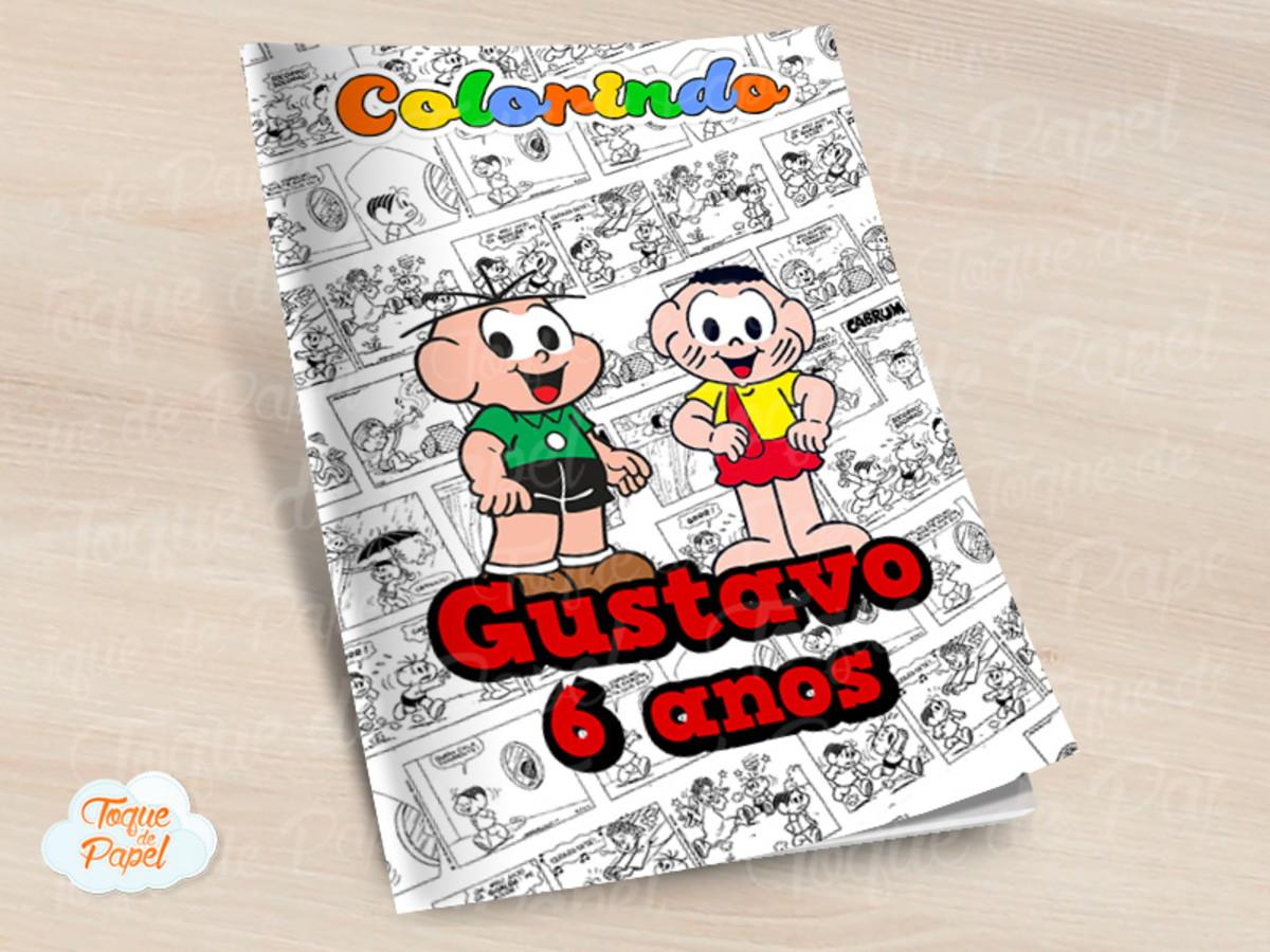 Revista Colorir Cebolinha E Cascao No Elo7 Toque De Papel Cedb02