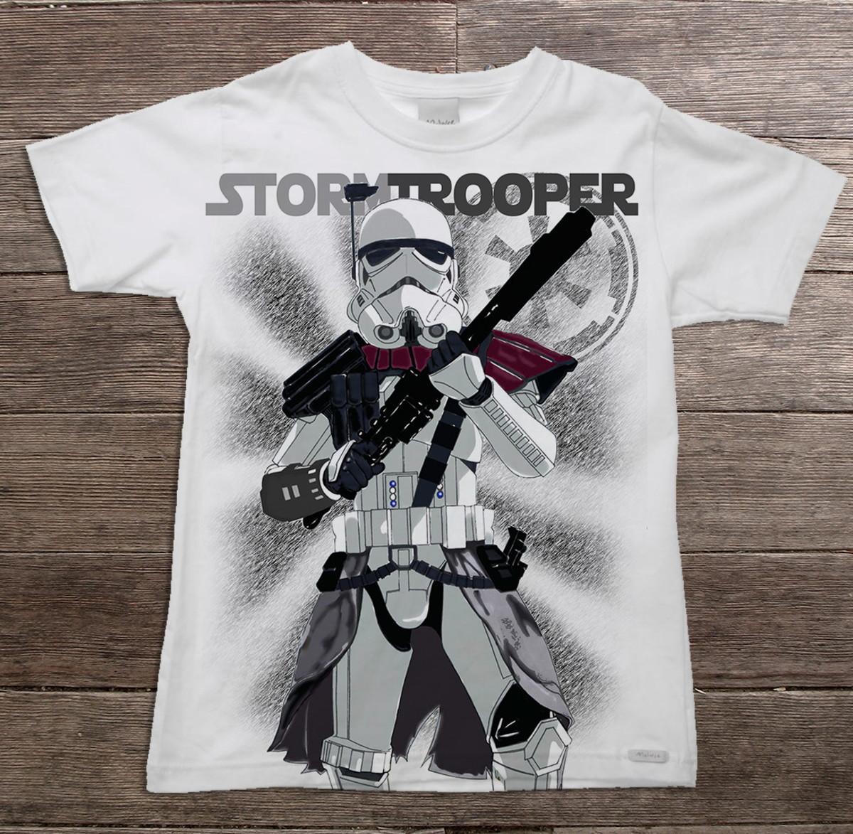 774ee034ee Camiseta adulto e Infantil Star Wars Elite Stormtrooper no Elo7 ...