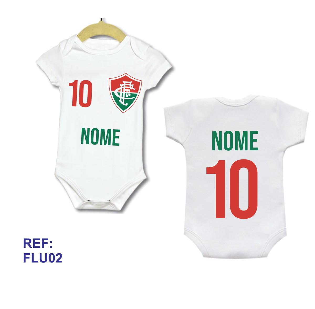 Body Bebe Infantil Personalizado Camisa Fluminense Com Nome no Elo7 ... c248c4dd7c1f2