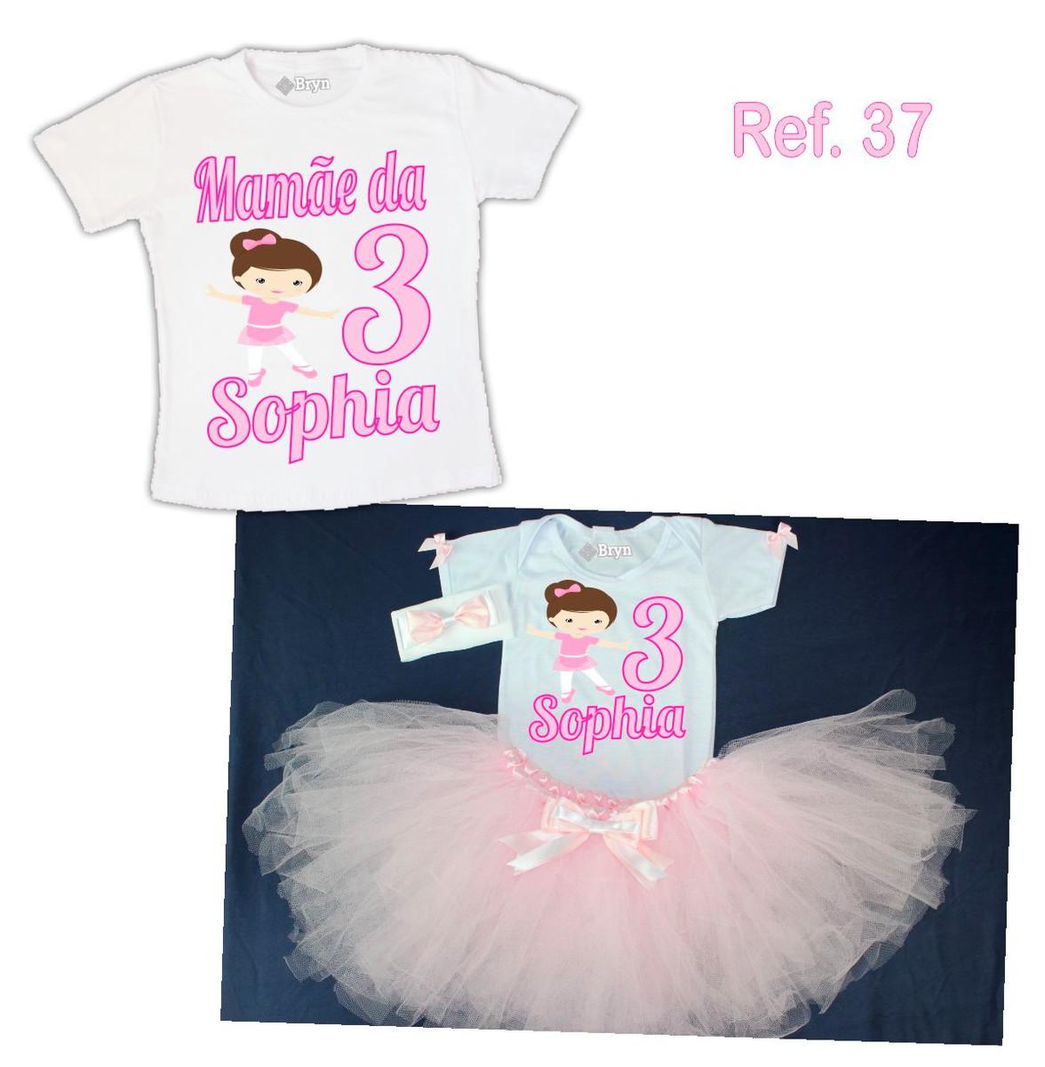 3961f077bd Kit Fantasia Tutu Bailarina Rosa Claro + 1 Camiseta no Elo7