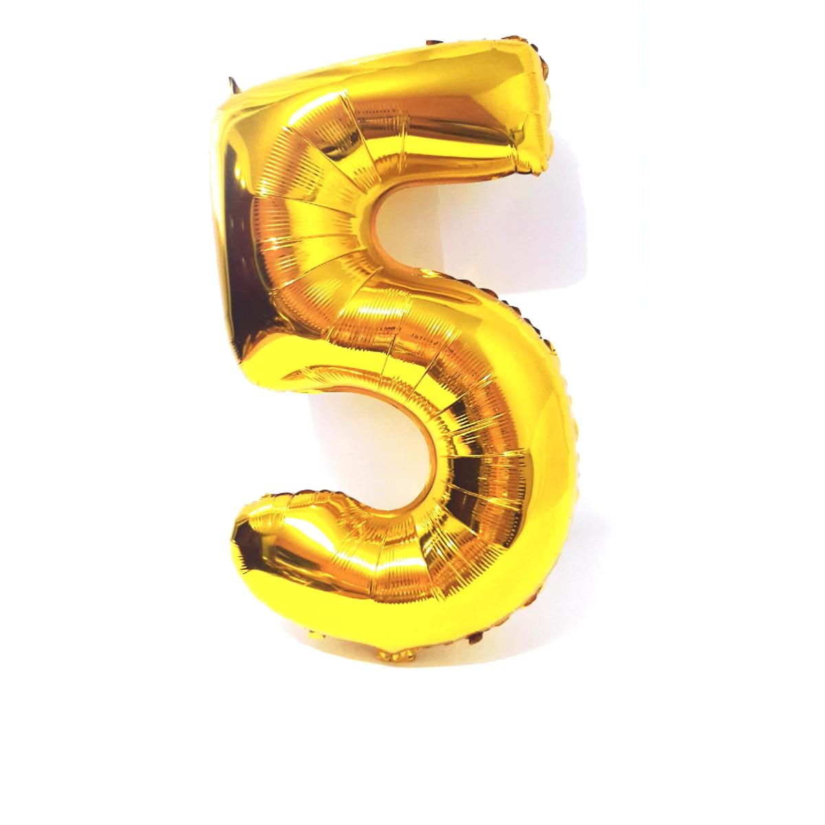 balão gigante metalizado dourado número 5 promoÇÃo no elo7 festas