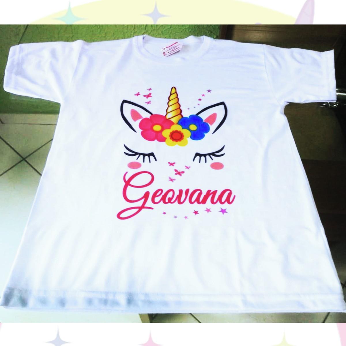 470532669d Camiseta Adulto Infantil Personalizada Tema Unicórnio no Elo7 ...