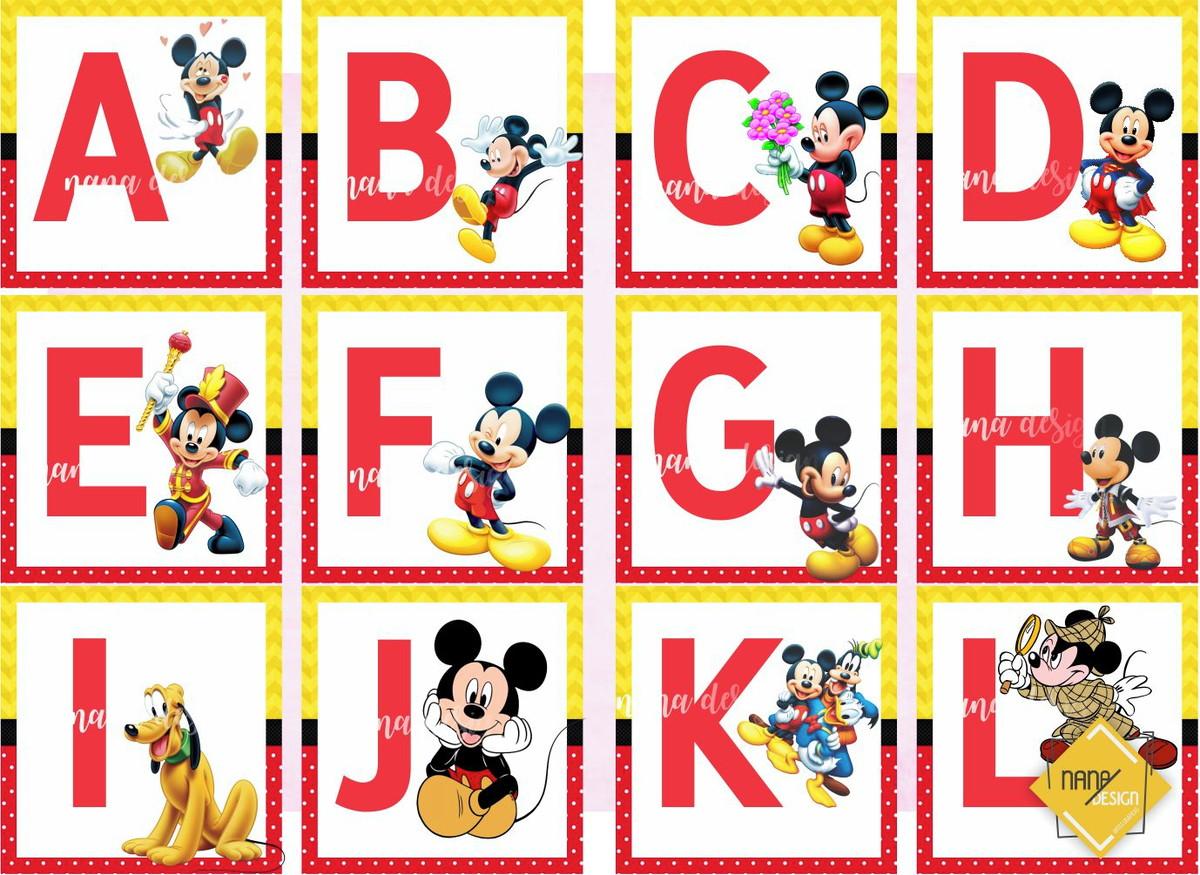 Alfabeto Mickey Para Imprimir / Alfabetização No Elo7