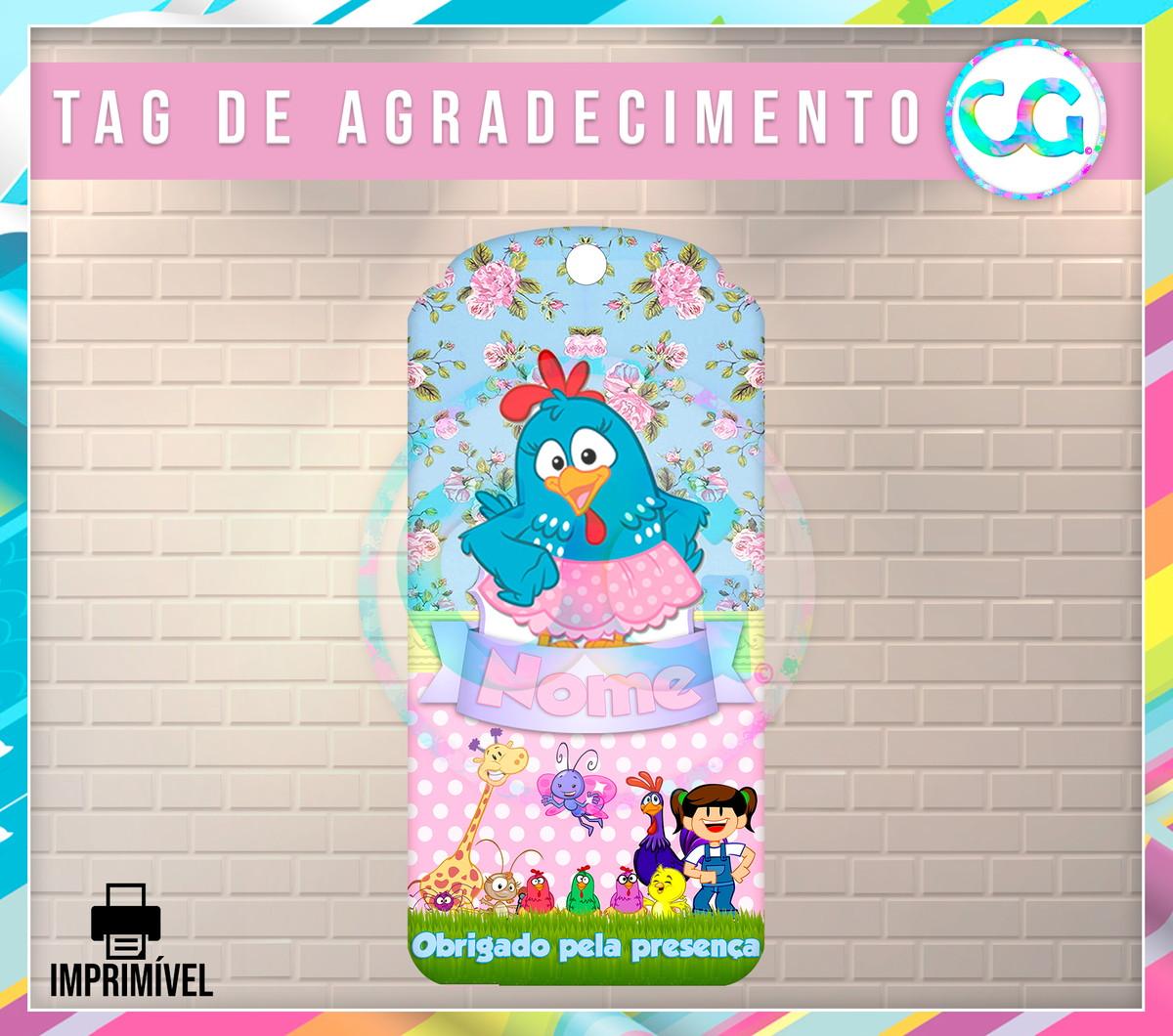 Galinha Pintadinha Candy Color Tag De Agradecimento No Elo7