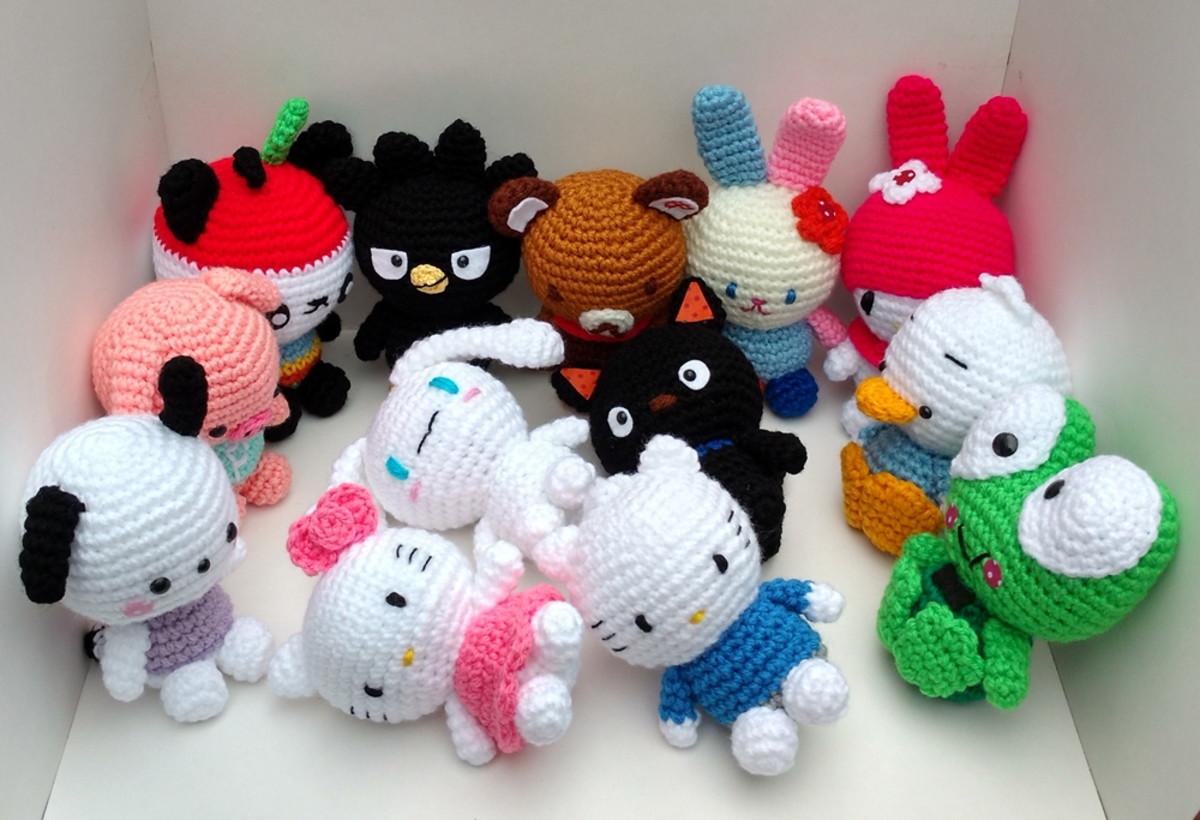 Crochet Hello Kitty In Dress Amigurumi Free Patterns - Toy Plush ... | 820x1200