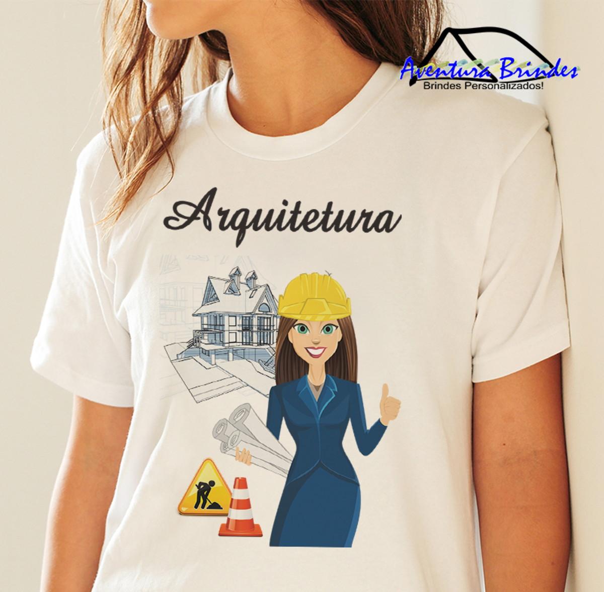 Camiseta Feminina Arquitetura no Elo7  7f085cdd7c0