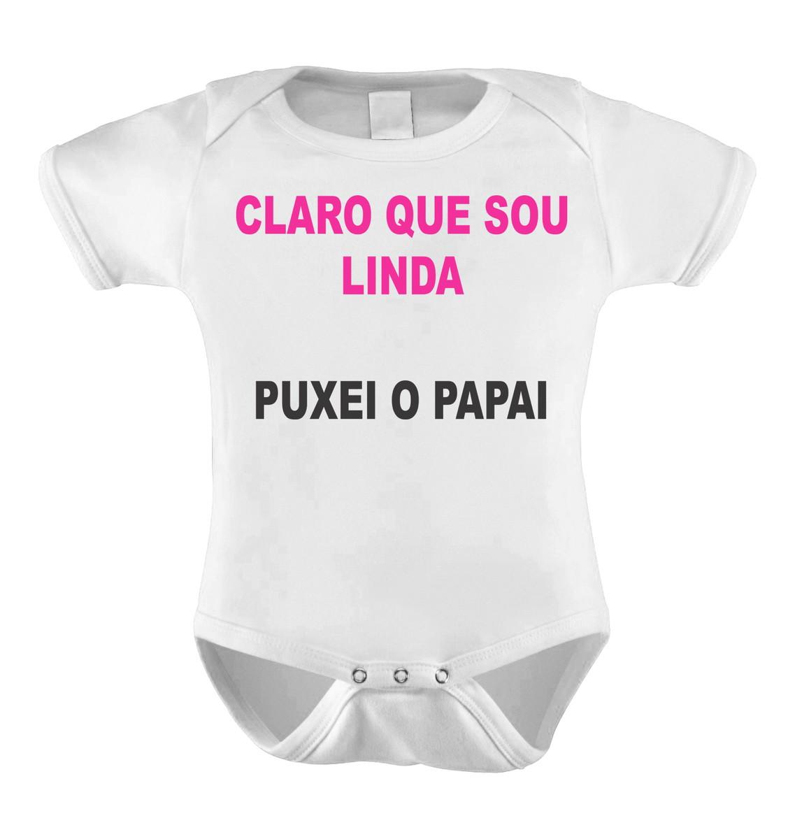 Body Bori Bebê Personalizado Frases Linda Igual Ao Papai No Elo7