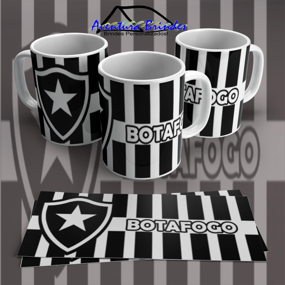 Caneca de Porcelana camiseta Botafogo no Elo7  100e226024a