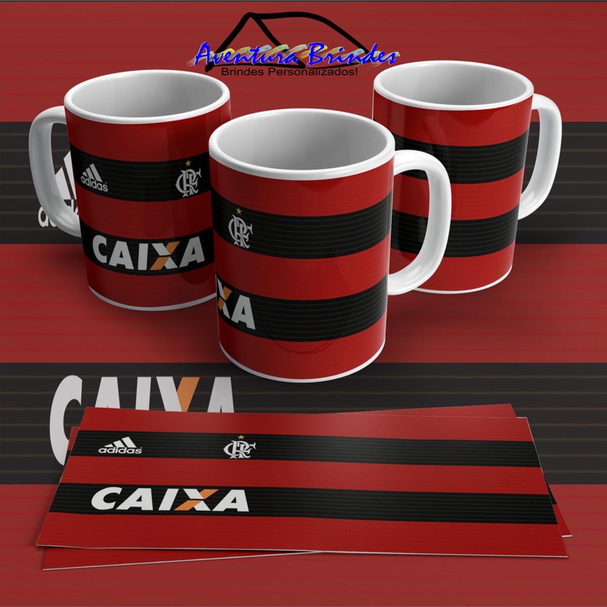 68dc8a3ef59d4 Caneca de porcelana camiseta flamengo no Elo7
