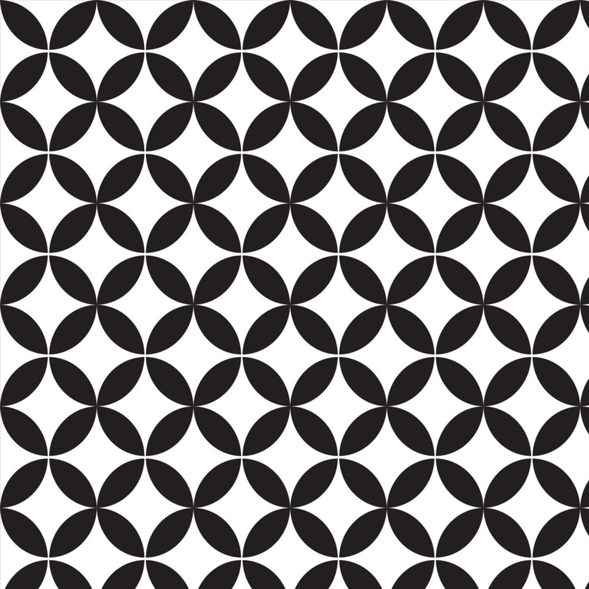 Papel De Parede Geometrico Abstrato Preto Com Fundo Branco No Elo7