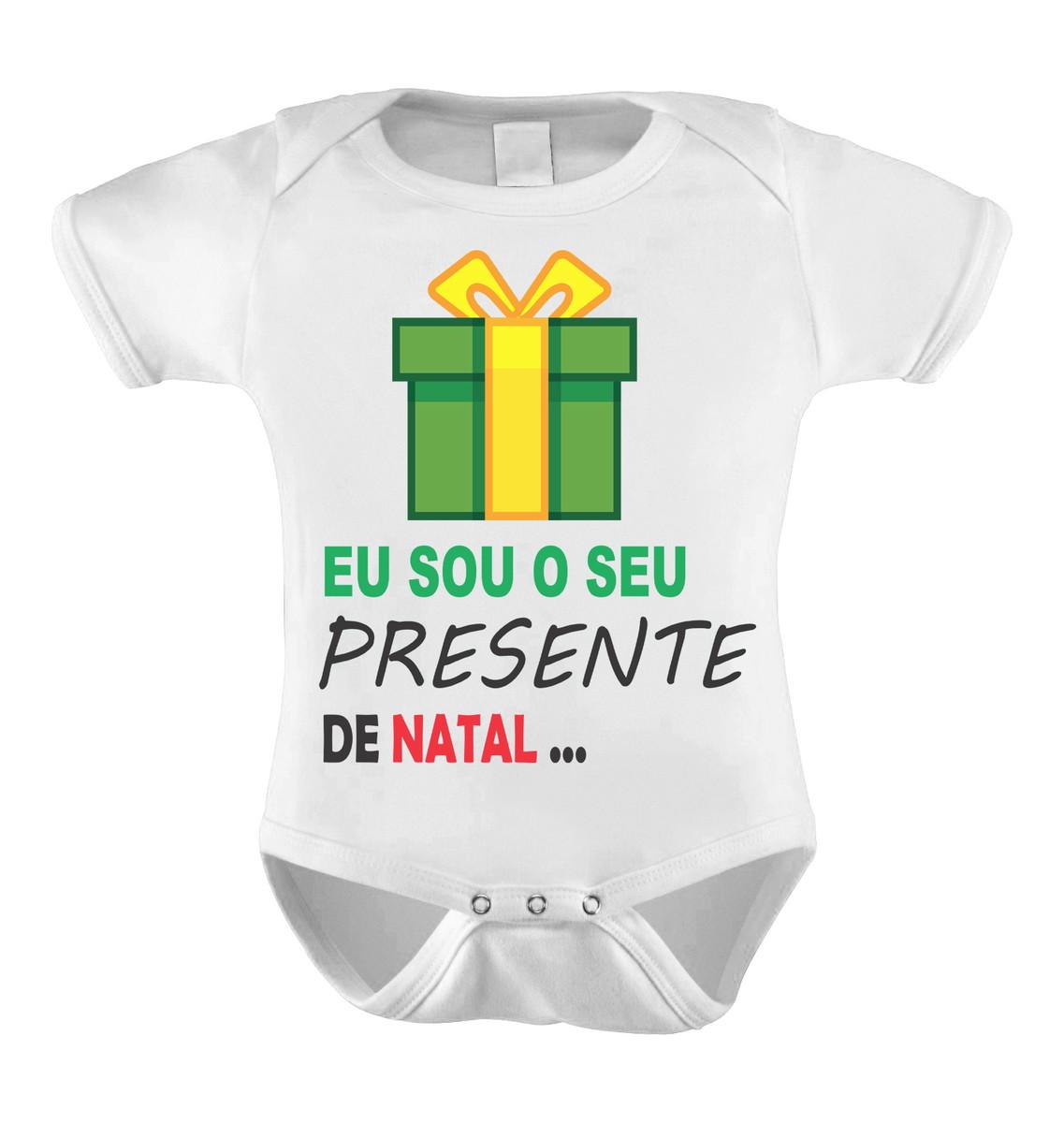 Body Bori Bebê Personalizado Frases Presente De Natal