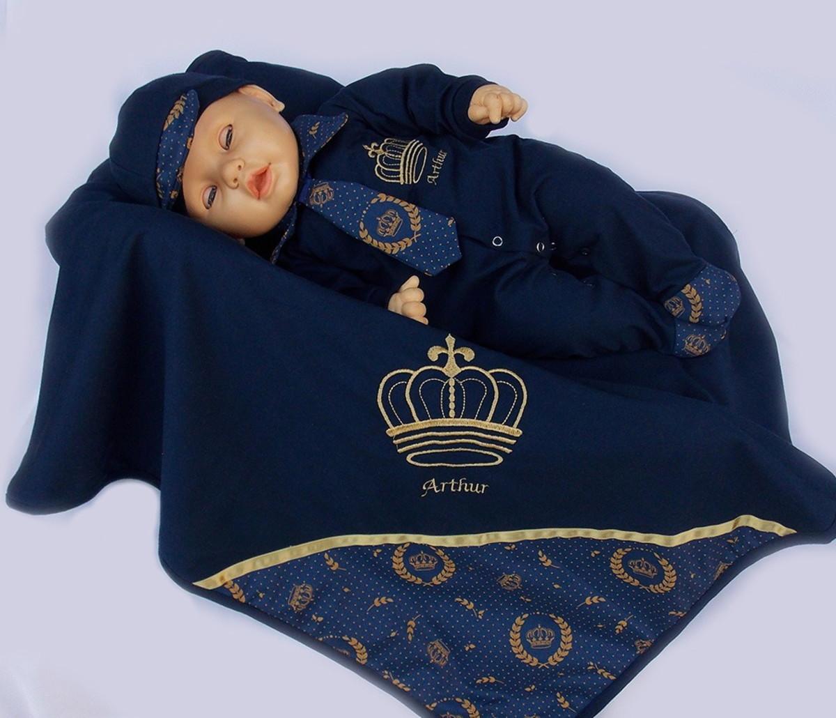 Kit Saída Maternidade Menino Príncipe Personalizado no Elo7 ... b70a076b5fa