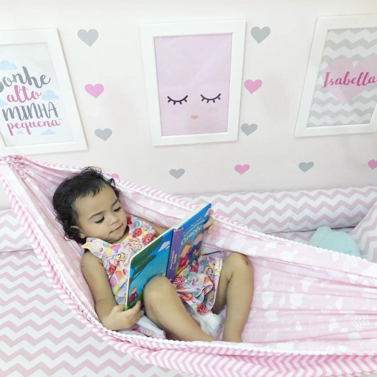 e84e411394 Rede infantil( adaptável a mini camas e berço ) no Elo7