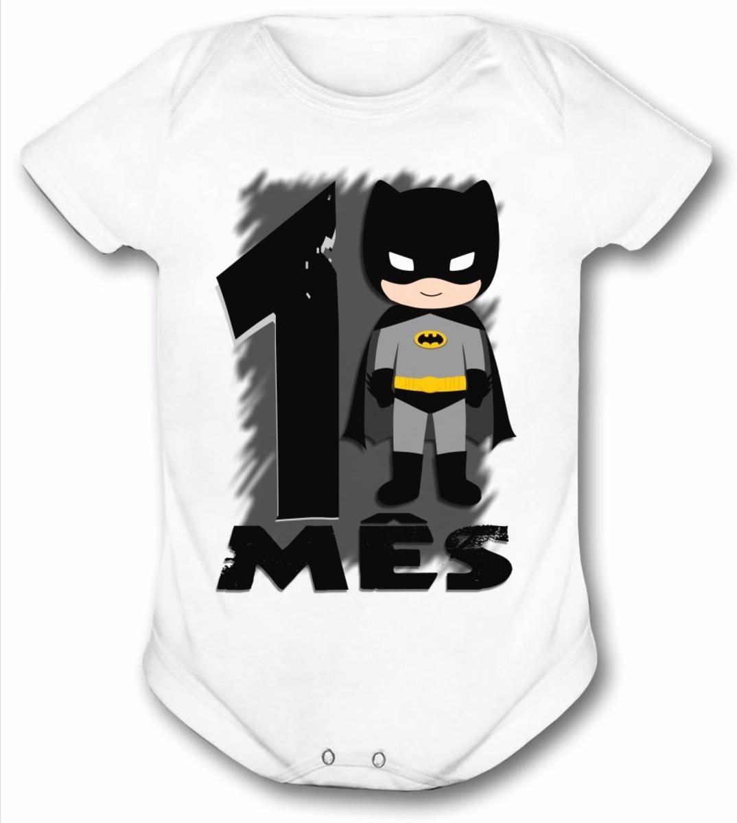 Body Batman bebe mesversario heróis no Elo7  5636d85503d