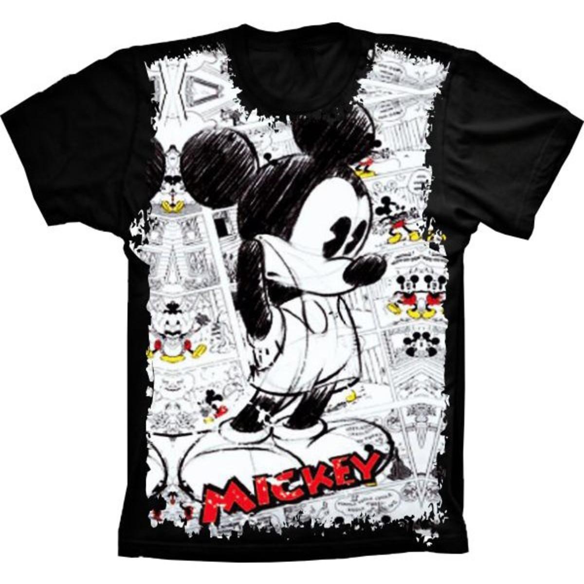 53475cfd4 Camiseta Infantil Mickey Pensativo no Elo7