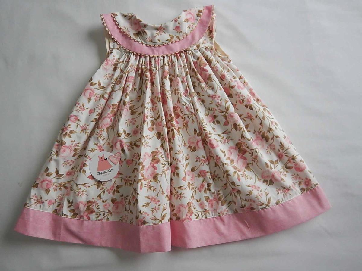 823d1af54 Vestido infantil floral rosa Yasmin no Elo7 | Rafaella Rose (5C8CA8)