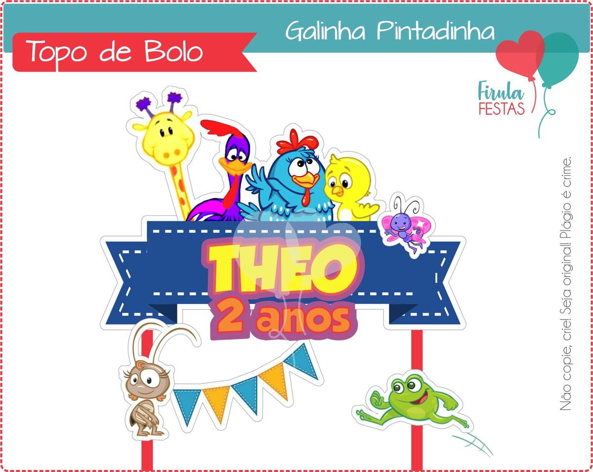Topo De Bolo Digital Galinha Pintadinha No Elo7 Firula Festas