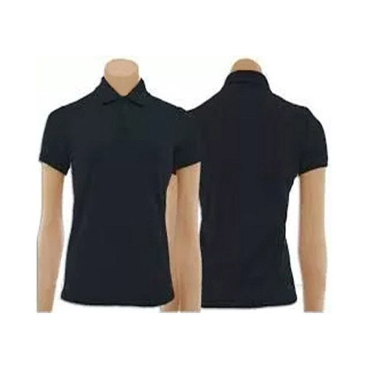 06c3f784cf Camiseta Polo Feminino Preta no Elo7