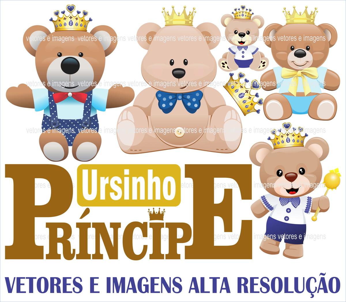 Ursinho Principe Ursinhos Vetor E Imagens Urso No Elo7 Renata