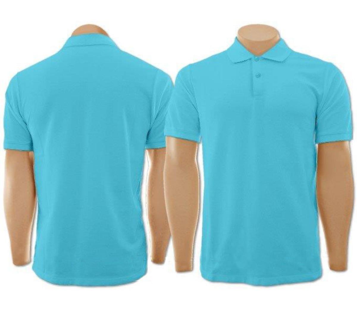 Camiseta Gola Polo Azul Turquesa Masculina no Elo7  425f93338ea61