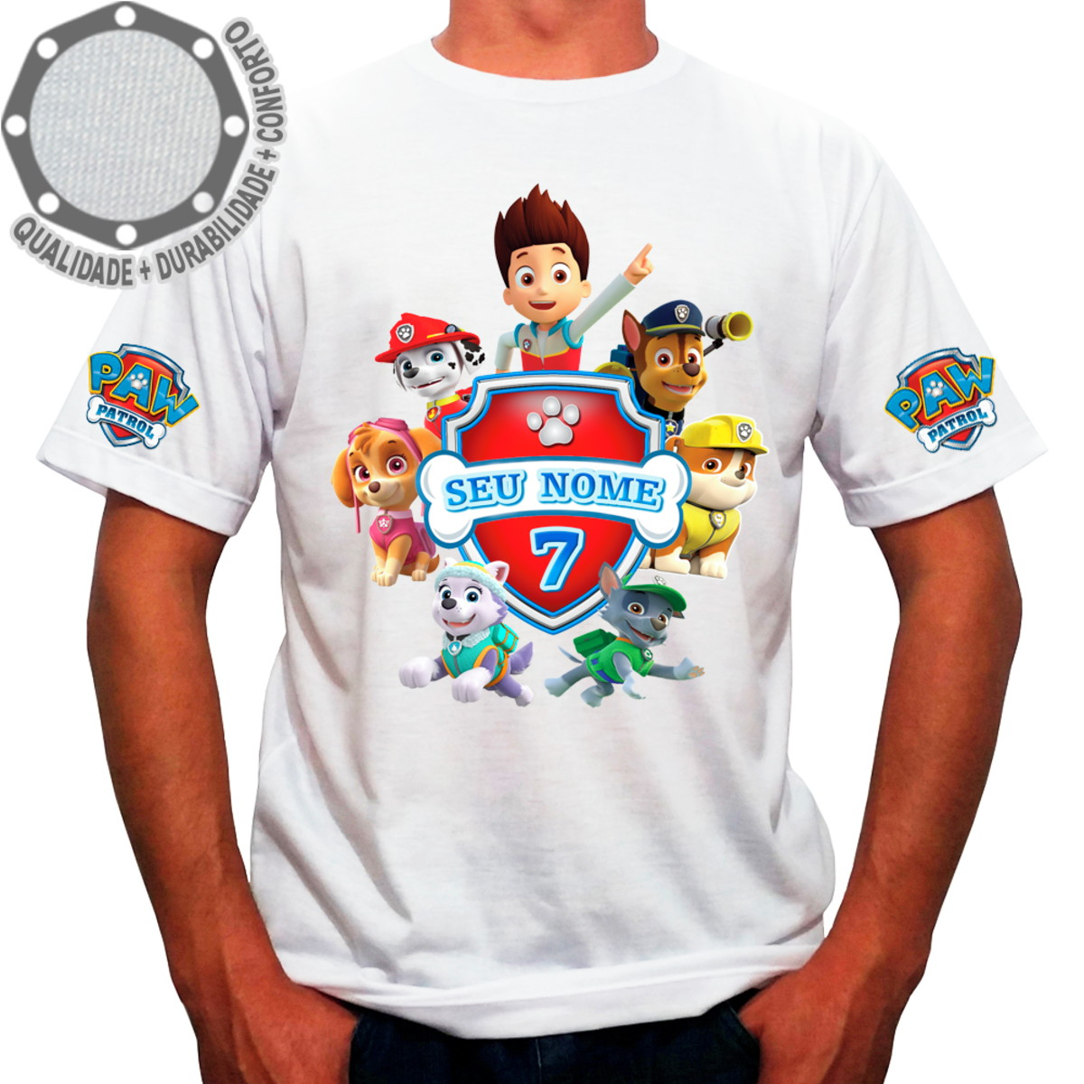 31146fecf9 Camiseta Patrulha Canina Camisa ah01516 no Elo7