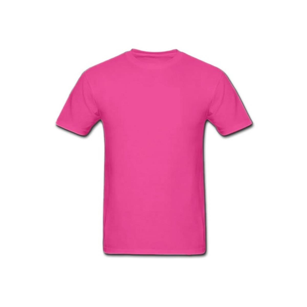 Camiseta 100% Algodão Rosa Pink no Elo7  c9f1e7186b054