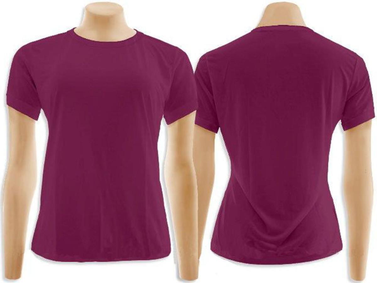 Camiseta baby look 100% Algodão Vinho no Elo7  9256e5d0e42cc