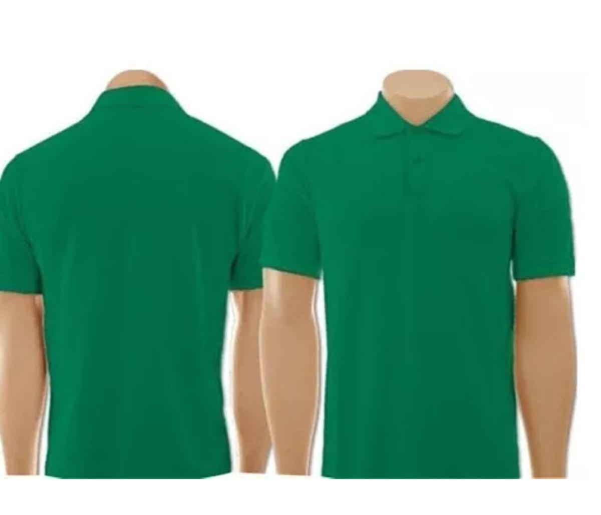 33160af927 Camiseta Gola Polo Verde Bandeira Masculino no Elo7