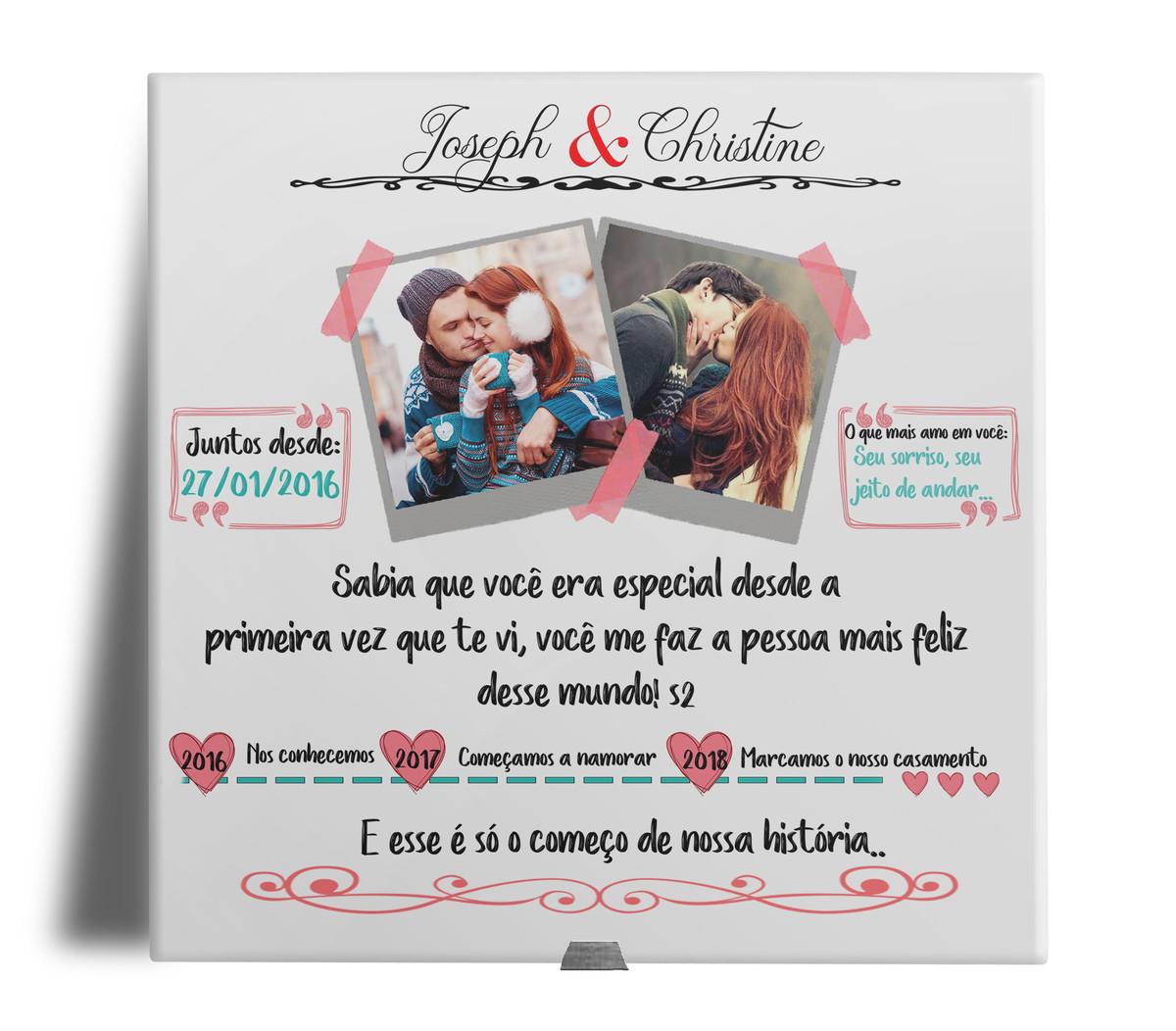 d16b3571d87672 Presente Dia dos Namorados Azulejo Personalizado