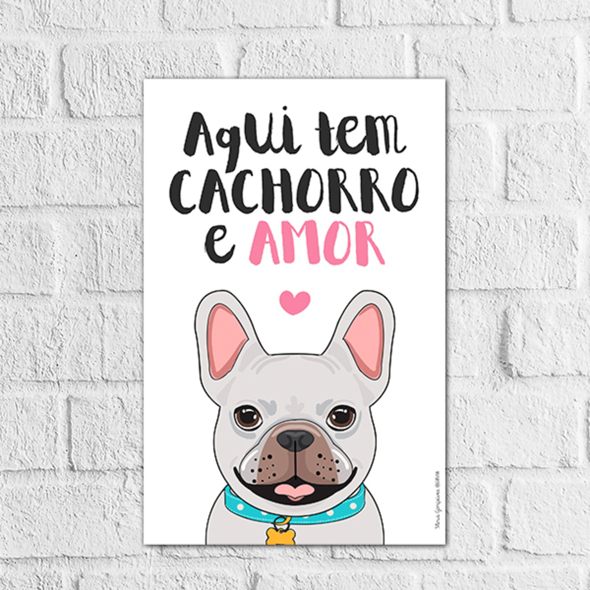 Placa Decorativa Animal De Estimacao Gato Cachorro Frases No Elo7