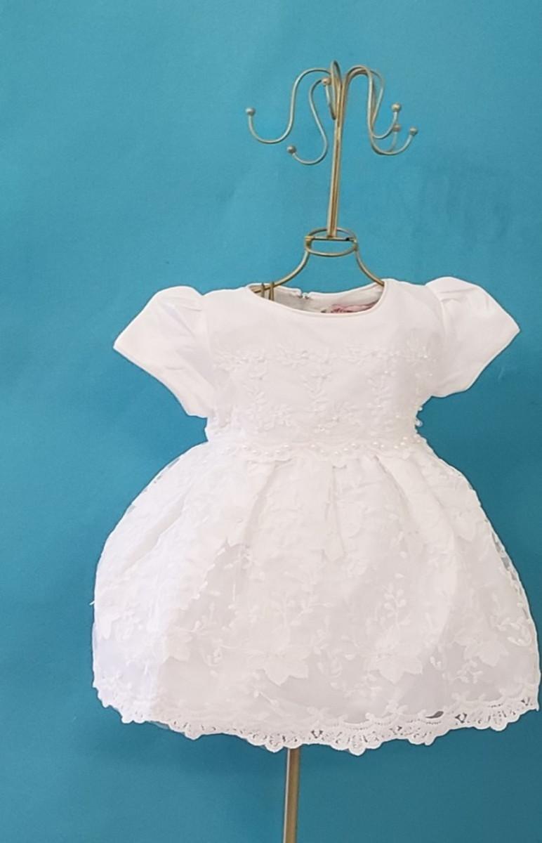 1a522cbbb8 Zoom · Vestido batizado renda