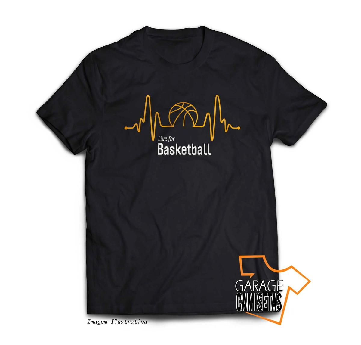 9f6269c2e91 Camiseta Live For Basketball - Basquetebol no Elo7
