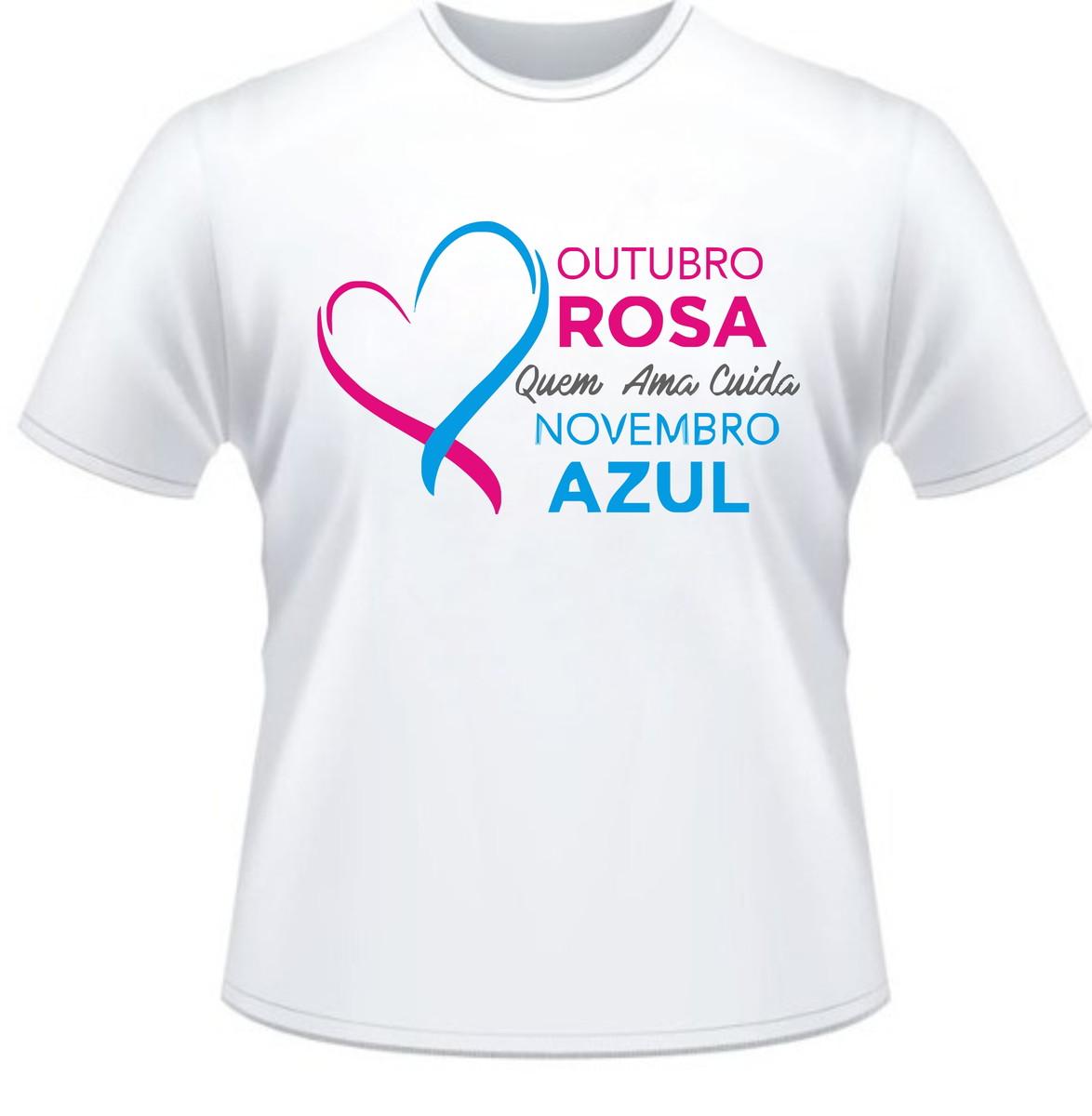 067c69ba5 Camiseta campanha outubro rosa novembro azul no elo adesivos campanha outubro  rosa camiseta estilizada jpg 1174x1200