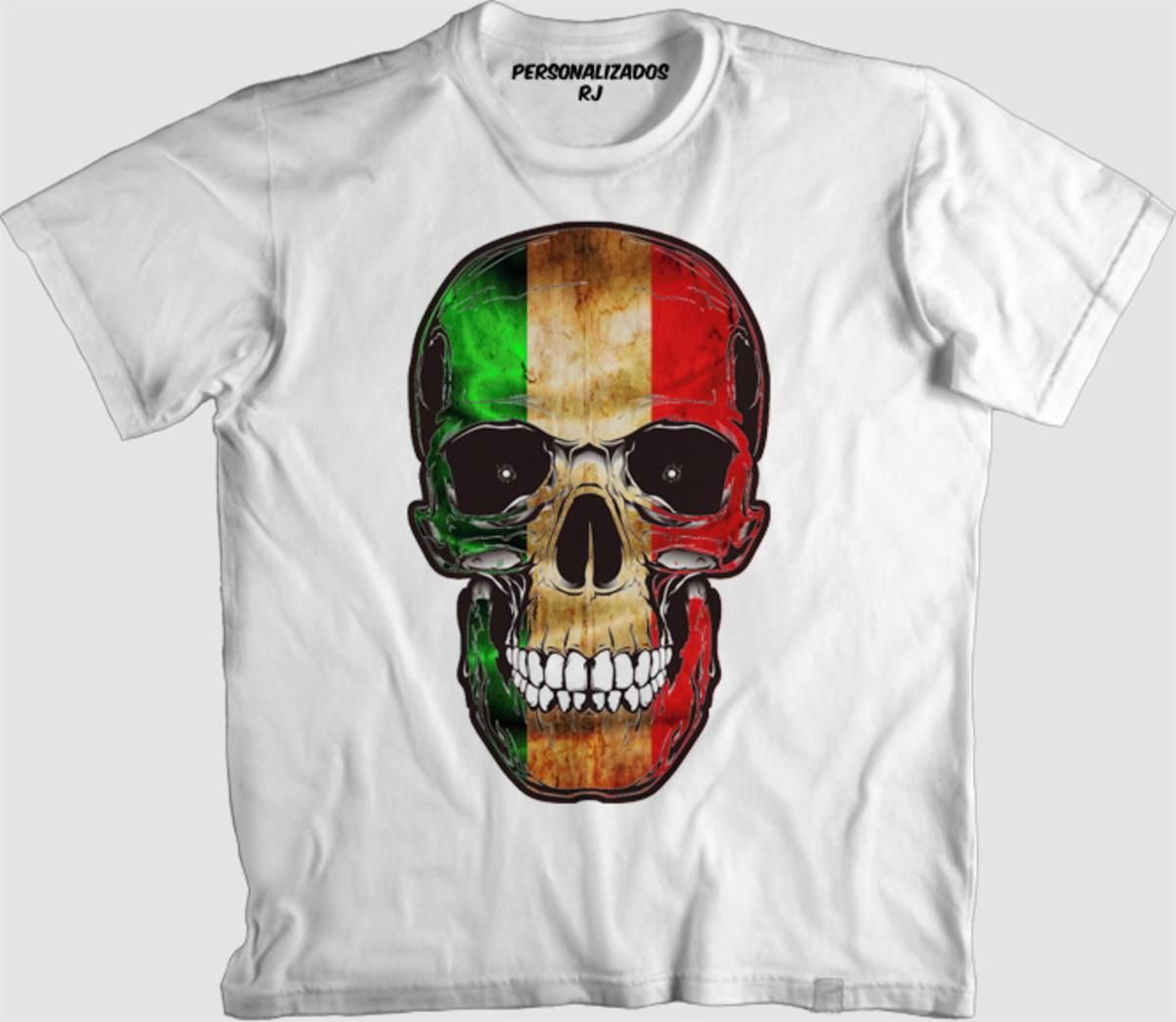 Camisa CAVEIRA ITÁLIA no Elo7  3b99dff2ff5ae