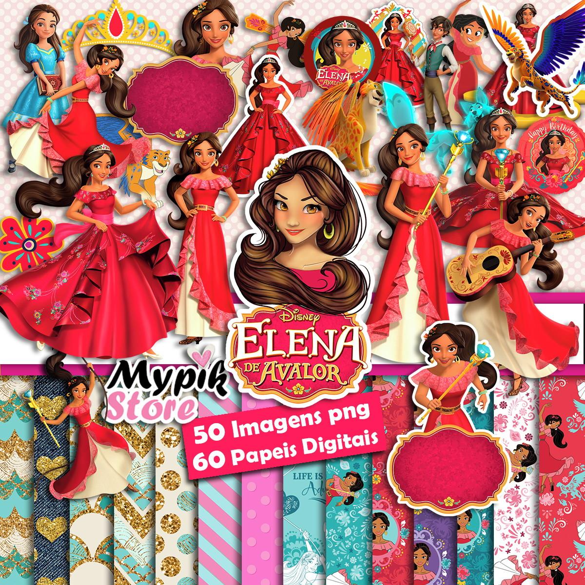 Super Kit Digital Elena De Avalor Imagens Scrapbook No Elo7