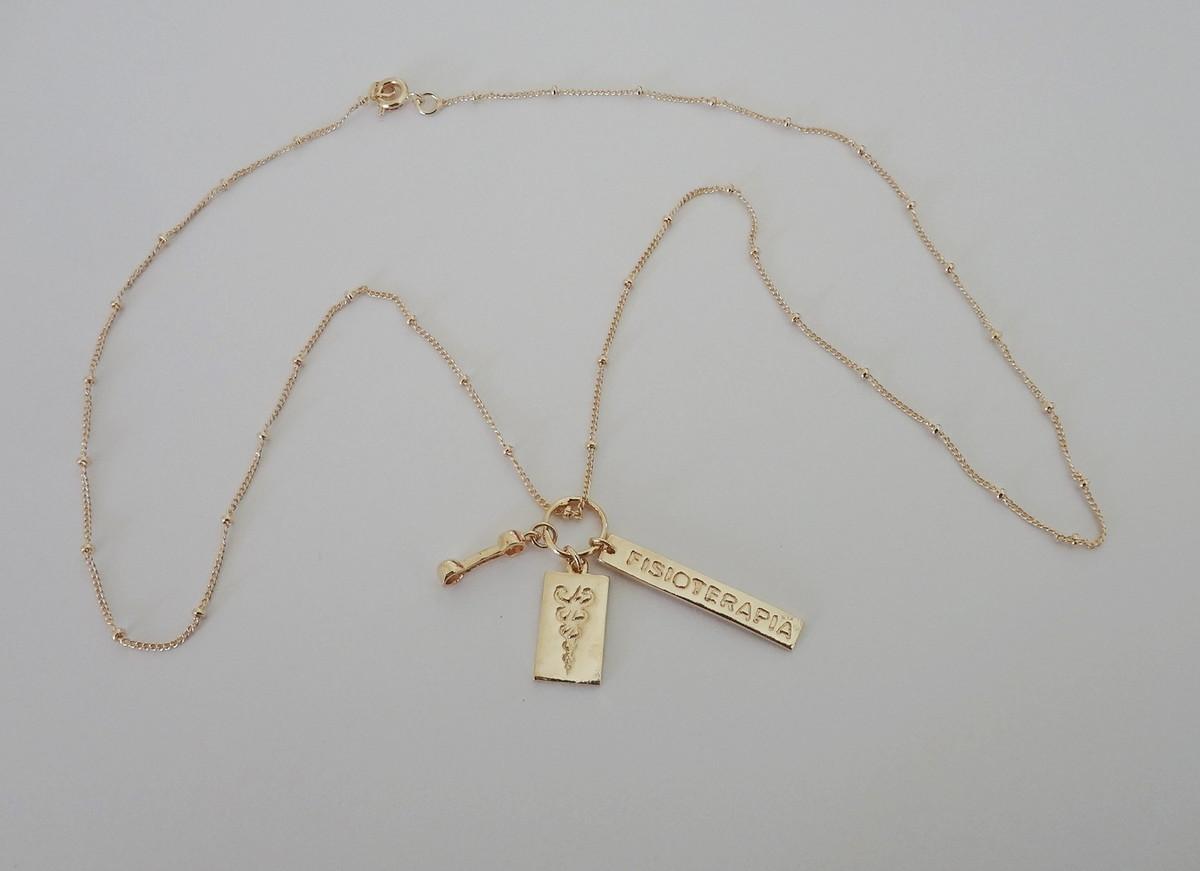 e8c11d493a759 Corrente Folheada a ouro - Cursos - Fisioterapia no Elo7   Pedra do ...