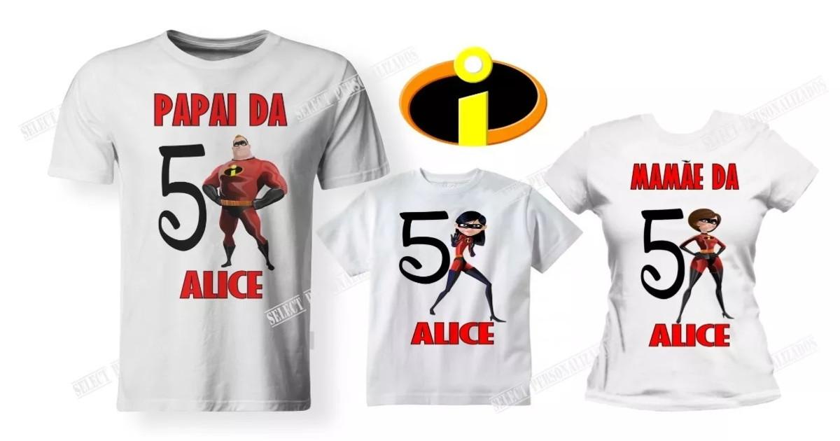 40c03a21aa Kit 03 Camisetas Aniversário Os Incríveis Festa - A3 no Elo7 ...