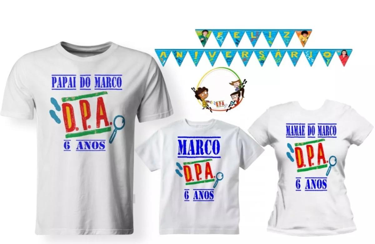 b1a1c60709 Kit 03 Camisetas Aniversário Detetive DPA Festa - A3 no Elo7 ...