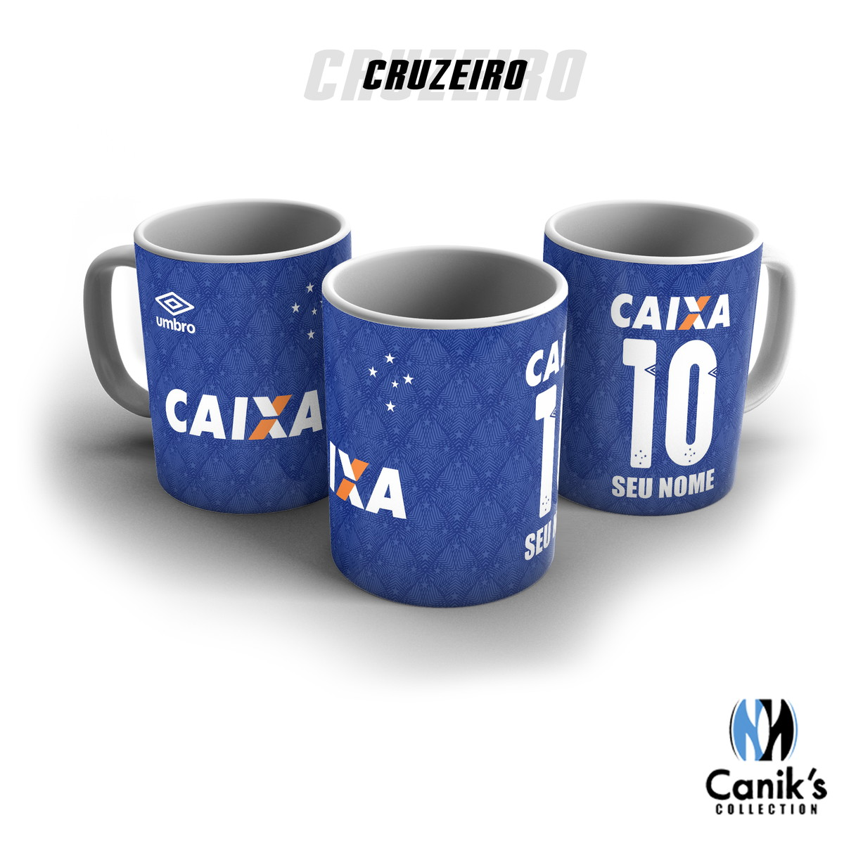 Caneca porcelana - Camisa Cruzeiro personalizada com nome no Elo7 ... fffe5bd9a0d8f