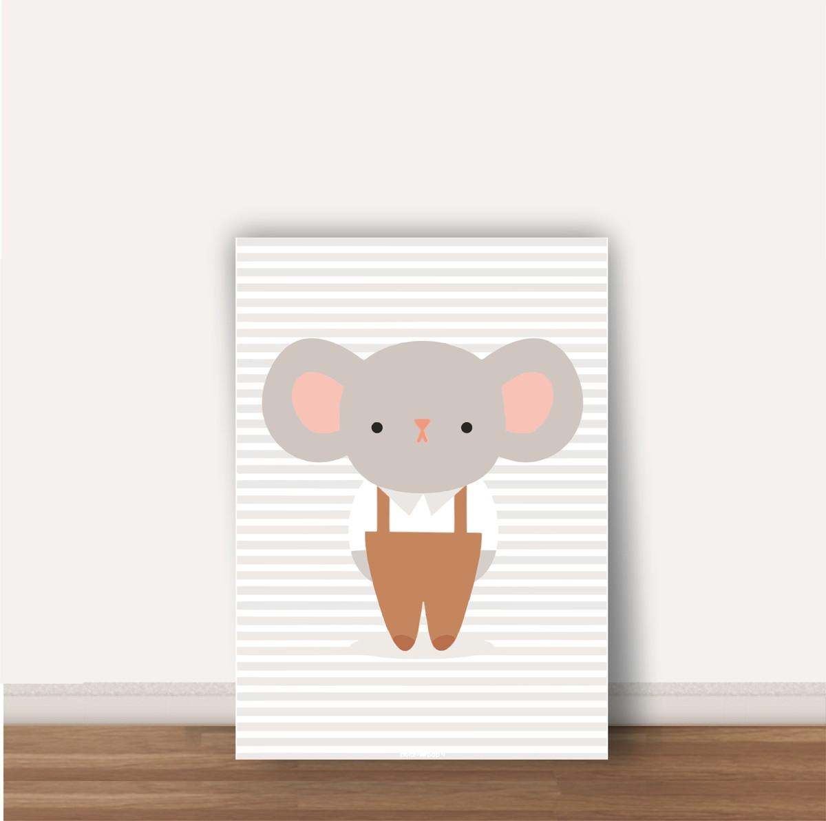 quadro infantil ratinho tamanho a4 no elo7 wood design quadros