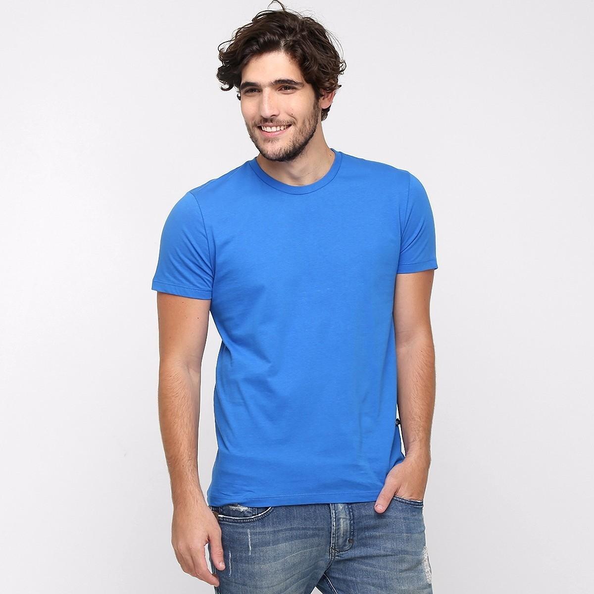 d26fefca5a Camiseta 100% Algodão Sem Estampa Fio 30.1 Lisa Azul Royal no Elo7 ...