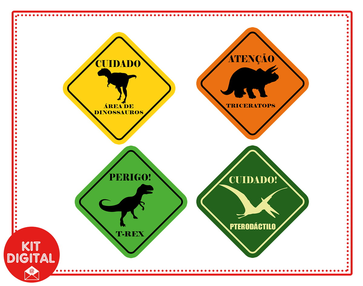 4 Tags Digitais Dinossauro 4 Cm No Elo7 Papel Digital D17e6e