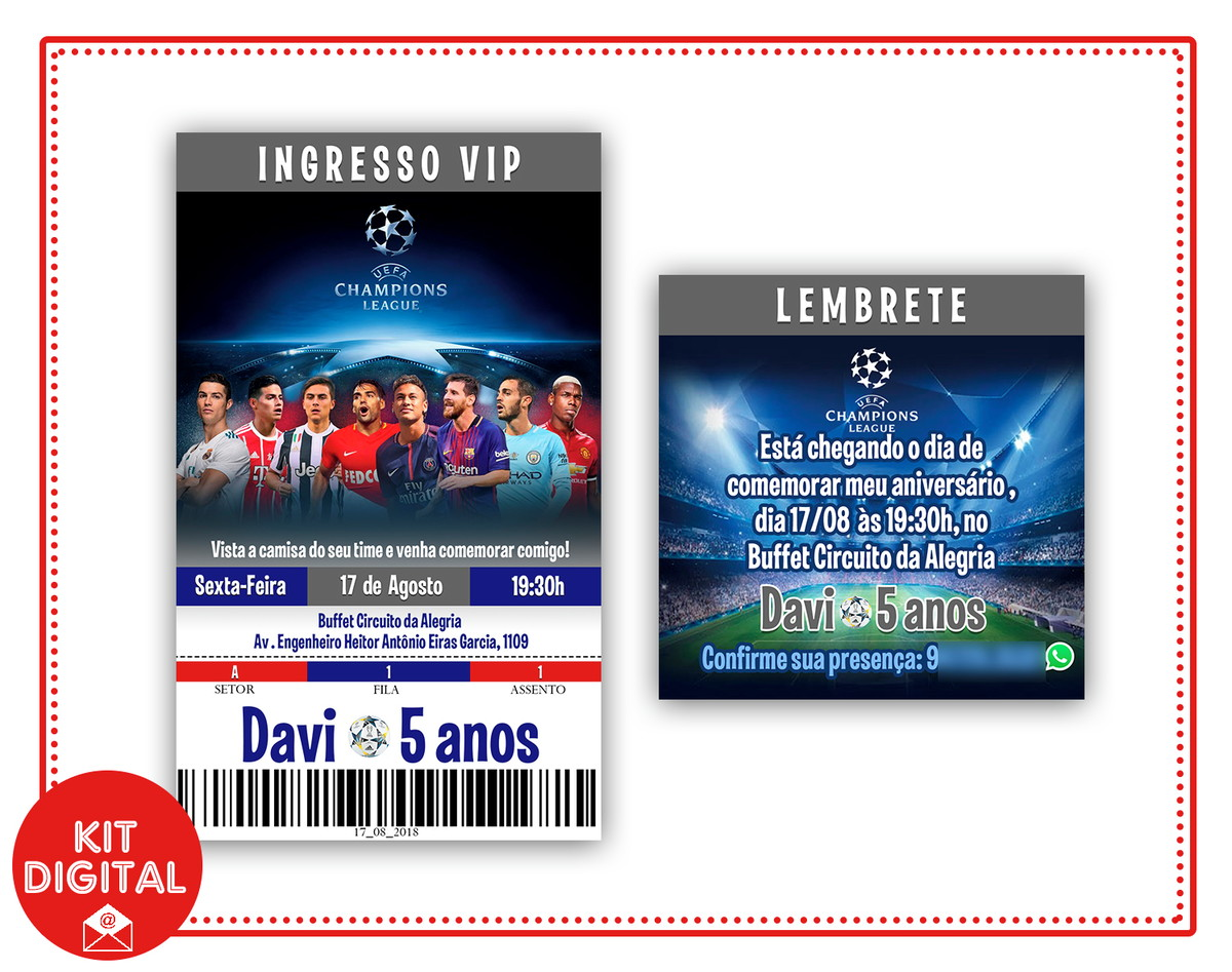 Convite Lembrete Futebol No Elo7 Papel Digital D18066