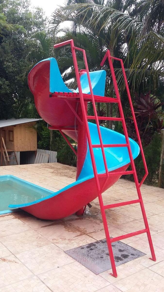 Escorregador Toboagua Infantil Adulto Para Piscina E Jardim No Elo7