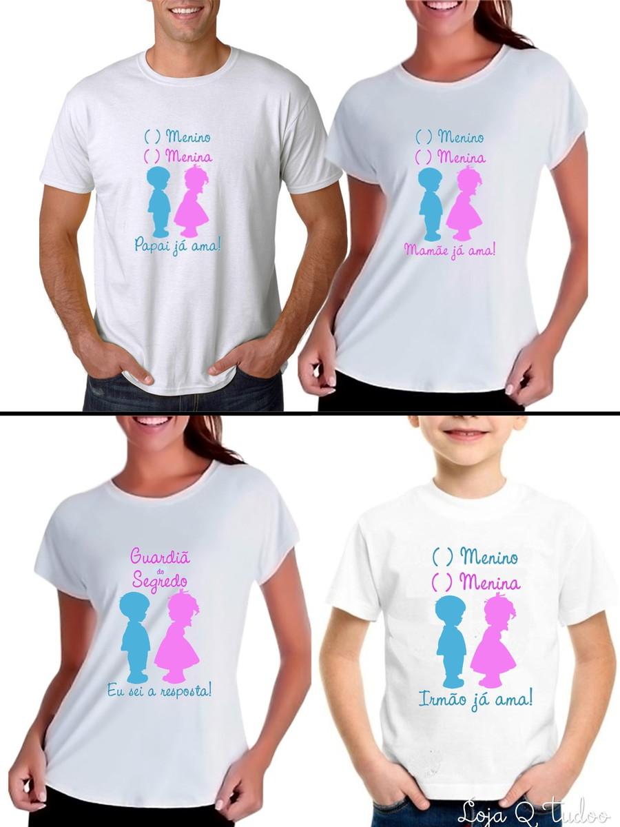 3295d4596e Camiseta Chá Revelação Chá de Bebê no Elo7