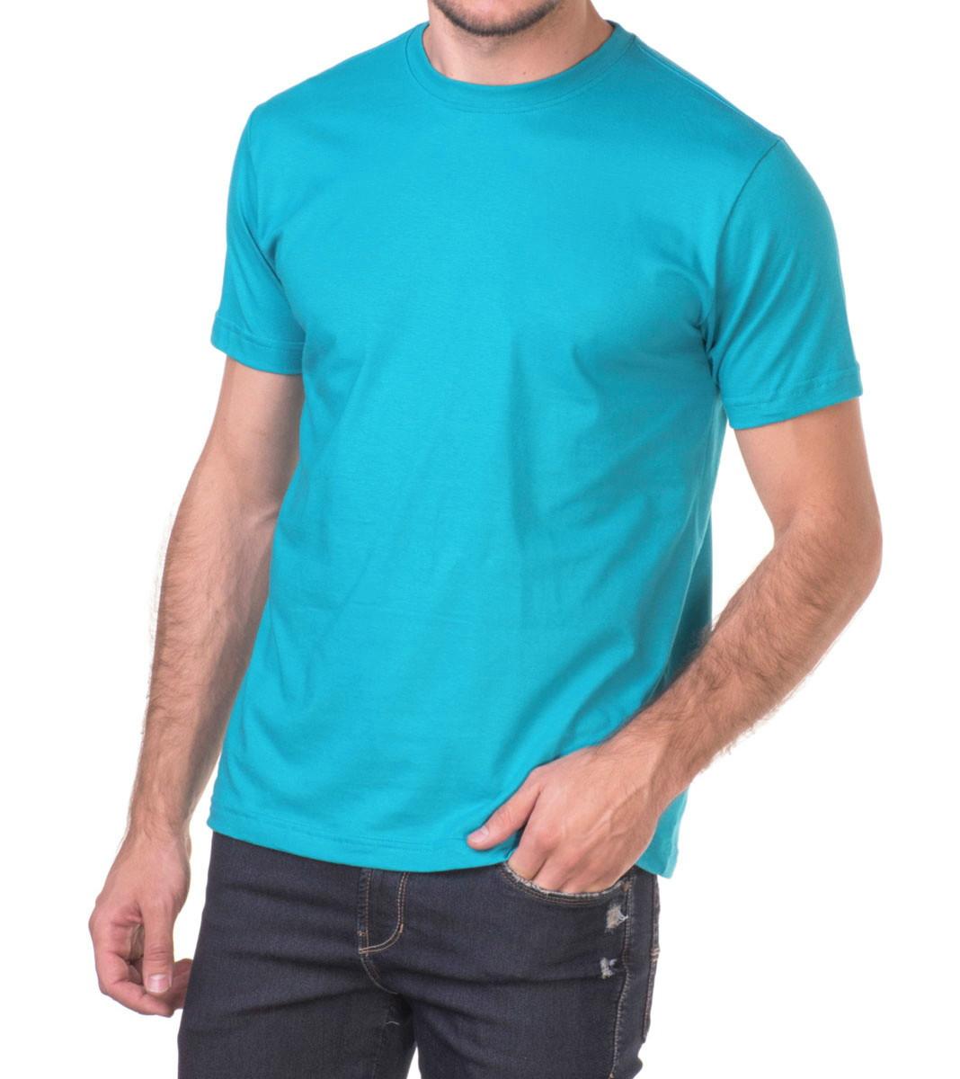 9fa5a5b08f Camiseta 100% Algodão Sem Estampa Fio 30.1 Azul Turquesa no Elo7 ...