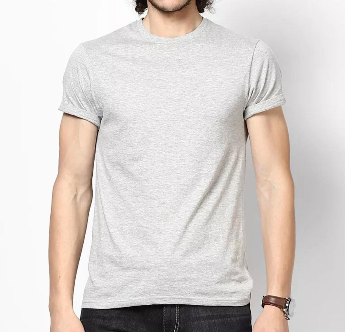 258f5c499c Camiseta 100% Algodão Sem Estampa Fio 30.1 Lisa Mescla Cinza no Elo7 ...