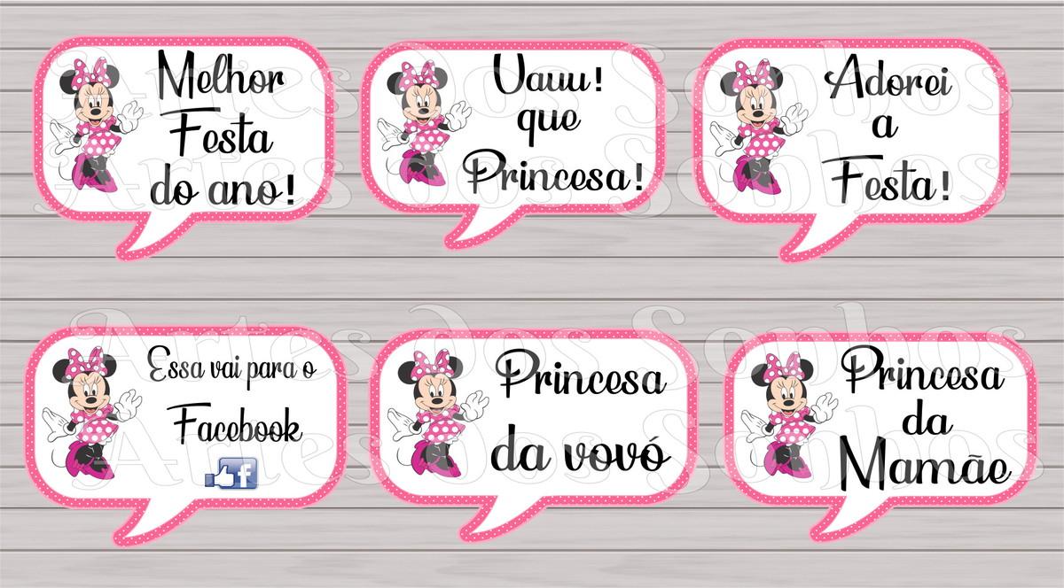 Placas Divertidas Minnie Rosa No Elo7 Artes Dos Sonhos D19b97
