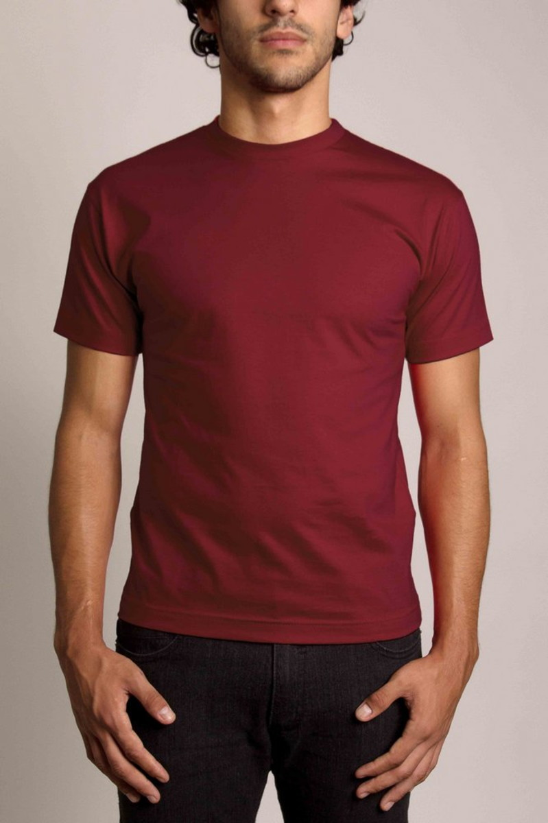 Camiseta 100% Algodão Sem Estampa Fio 30.1 Lisa Vinho Bordô no Elo7 ... 779ed3b375e43
