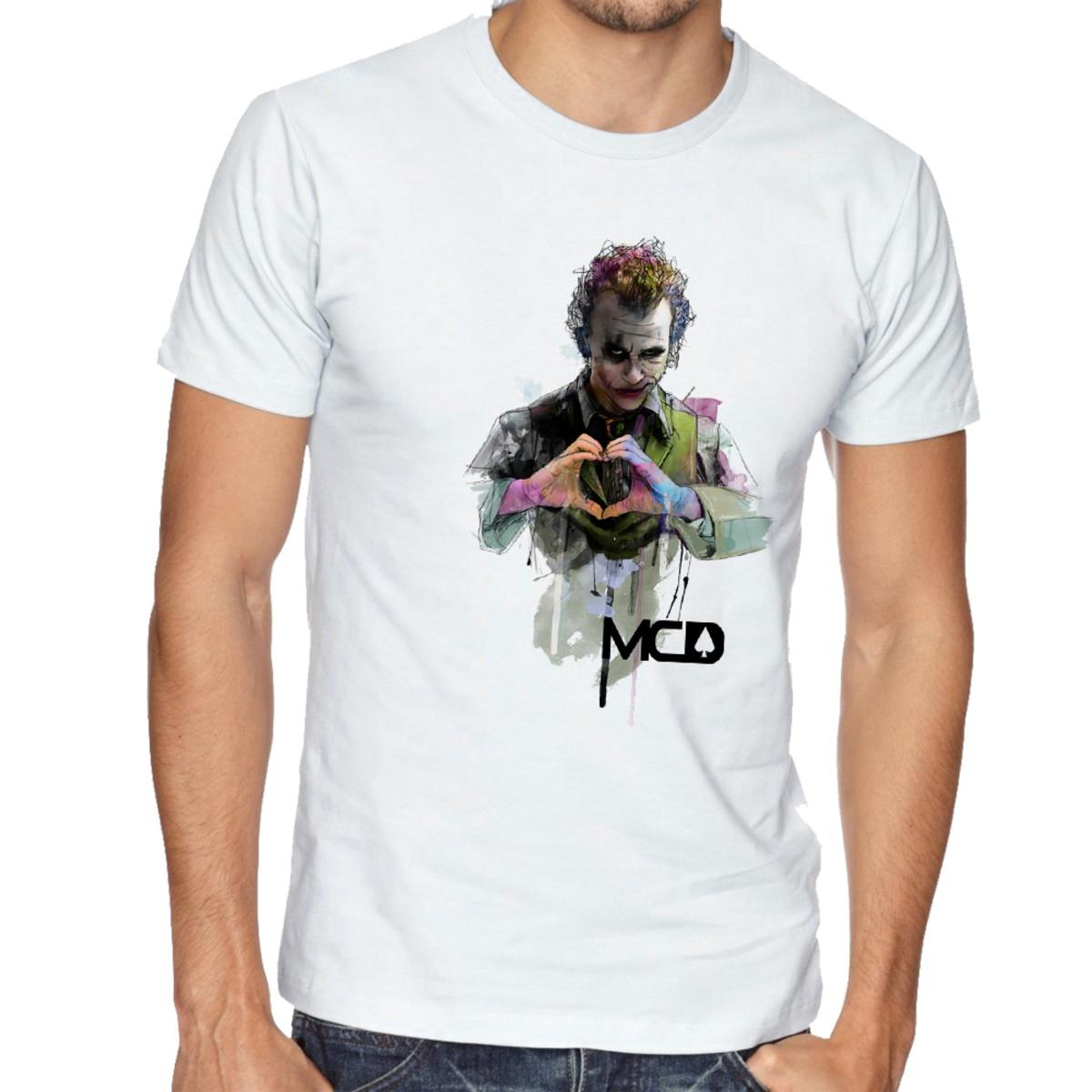 Camiseta Infantil Blusa Criança MCD Coringa coração no Elo7 ... 5bb65fdbb47